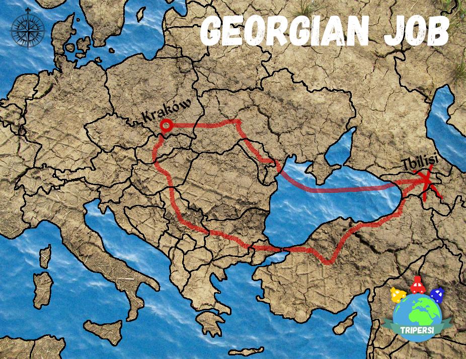 Georgian Job (Gruzińska Robota) - mapa