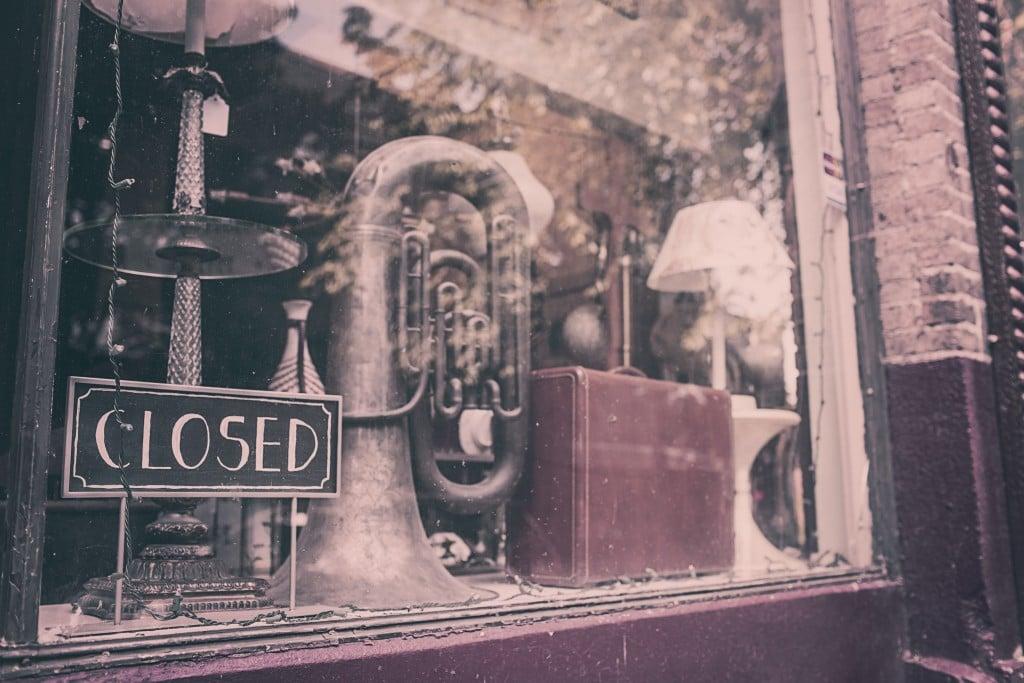 Zamknięty sklep