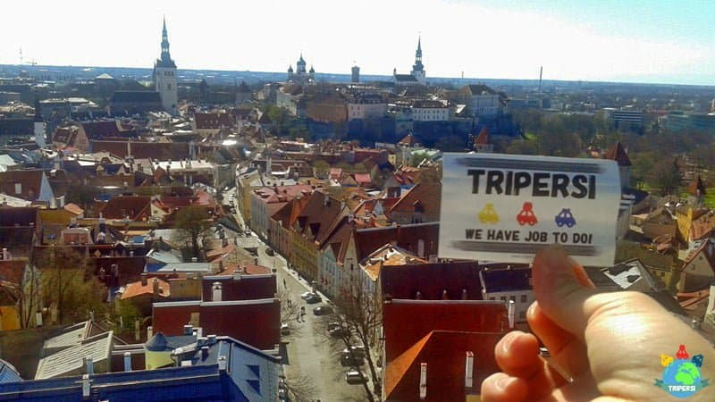 Stolica Estonii z góry