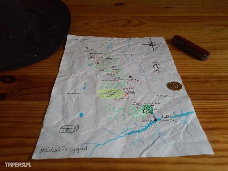 szlak orlich gniazd mapa