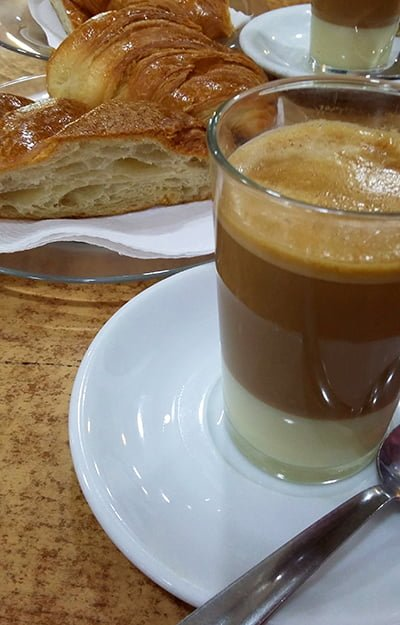 Gdzie zjeść na Gran Canarii - cafe con leche leche