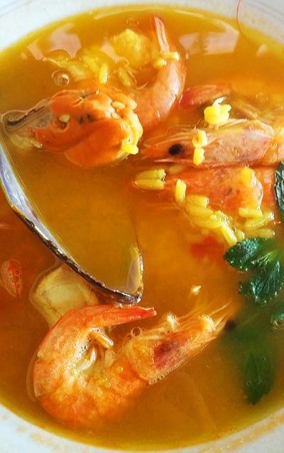 Gdzie zjeść na Gran Canarii - zupa z owocami morza